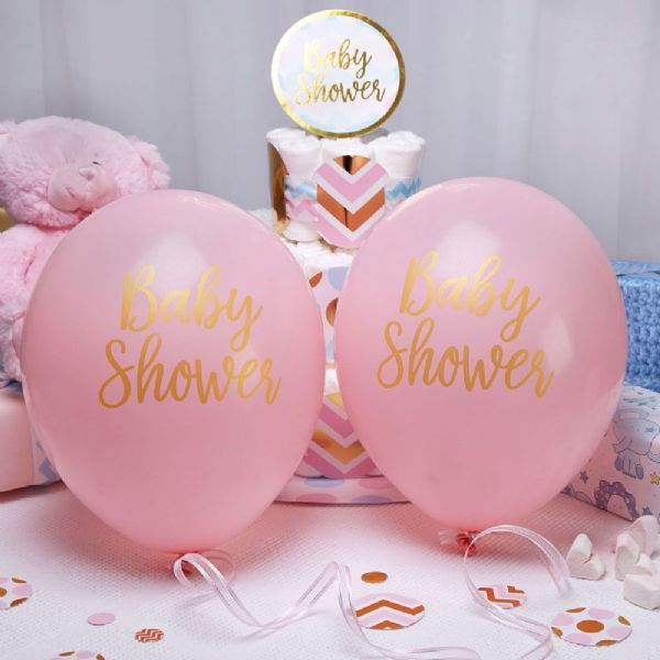 Pattern Works Pink Baby Shower Balloons (8)